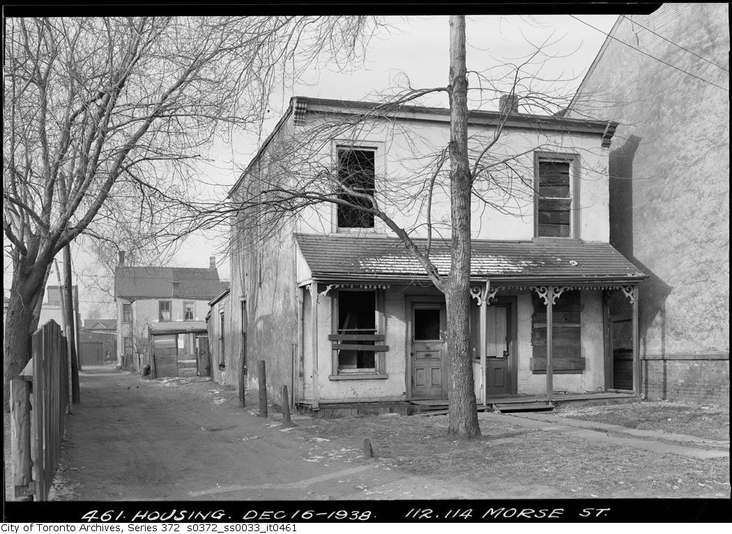 112 Morse St. Dec. 16, 1938, City of Toronto Archives