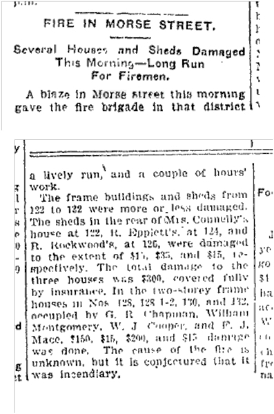 122 to 132 Morse St Toronto Star June 24, 1902