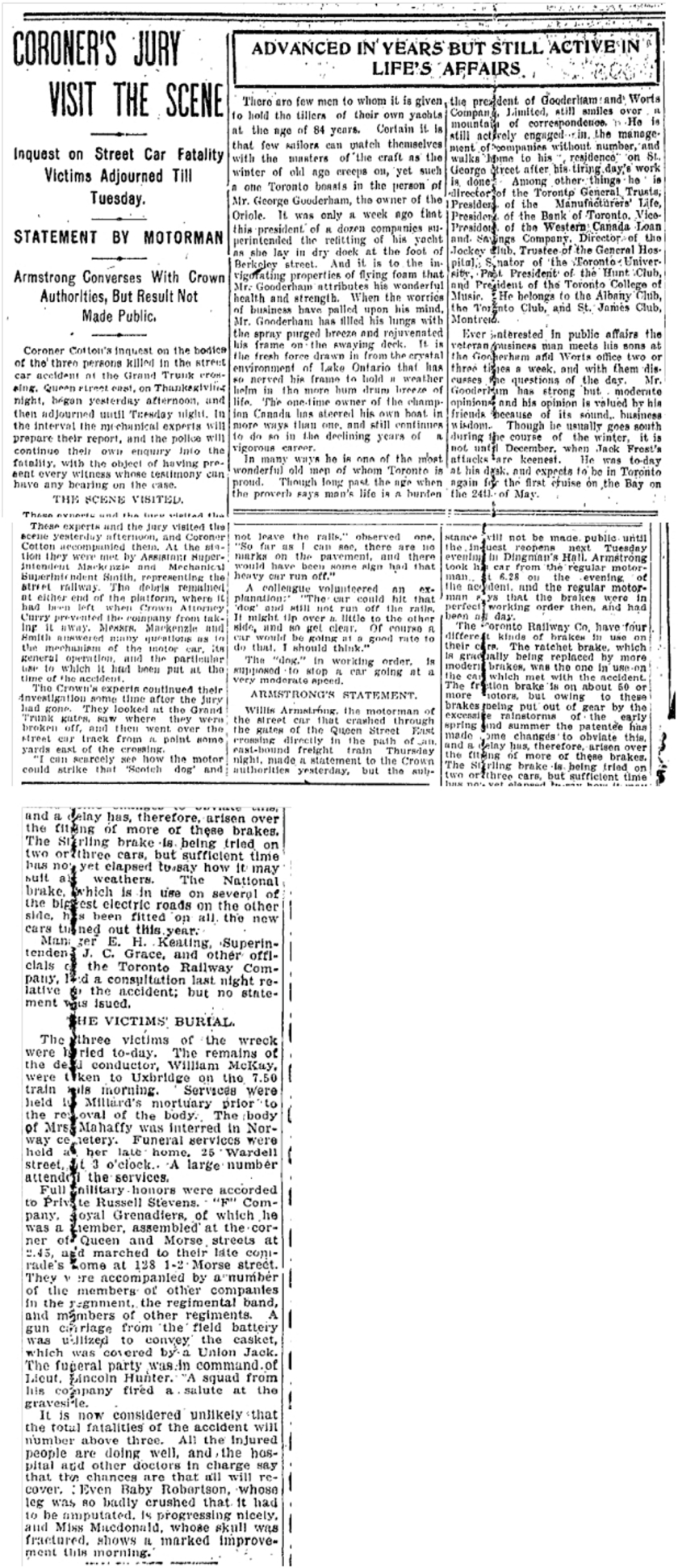 128 Morse Street  Toronto Star, Nov. 1904