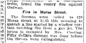 129 Morse St. Toronto Star, Nov. 5, 1914