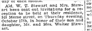 148 Morse St., Toronto Star, Oct. 16, 1901