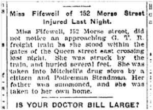 152 Morse St. Toronto Star, Dec. 3, 1901