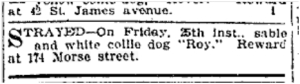 174 Morse St. Toronto Star, March 28, 1904