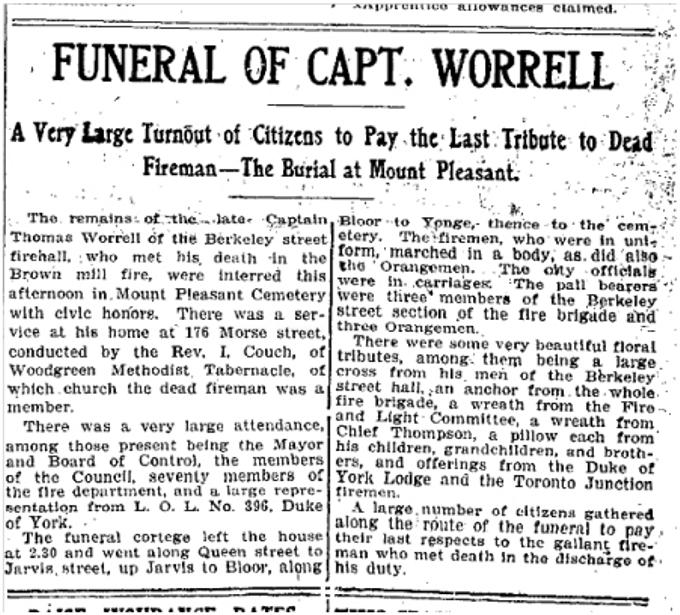 176 Morse Street Toronto Star, Sept. 21, 1905