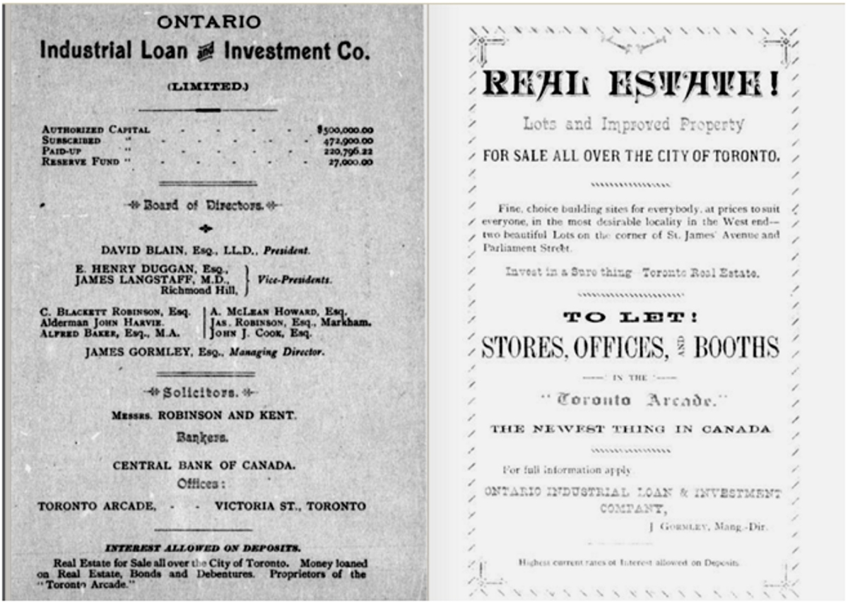 18840000 Arcade Guide and Record E H Duggan Ontario Industrial Loan and Investment