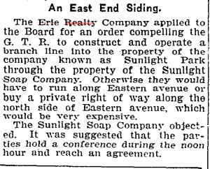 19051108TS Erie Realty Co Sunlight Park