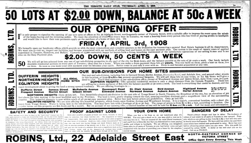 19080402TS Home Sites Robins
