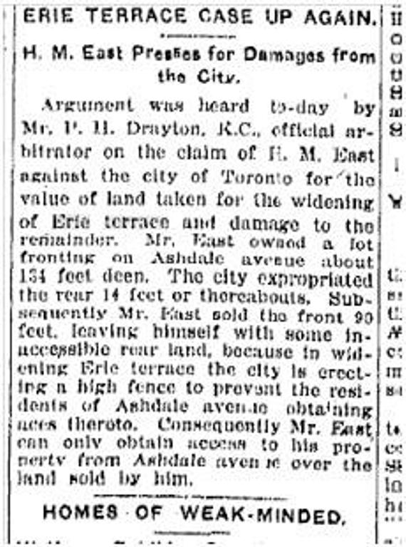 19160325TS Erie terrace law case Mr East