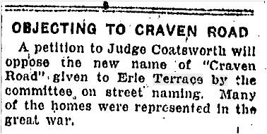 19240124TS Objecting to Craven Road