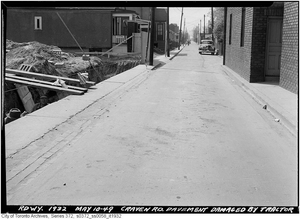 19490510TARCH Craven Rd Pavement Damaged by tractor