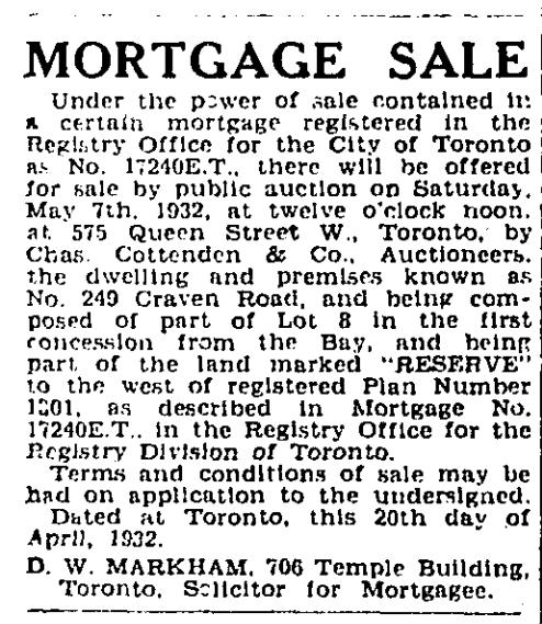 249 CR 19320423GL Mortgage sale