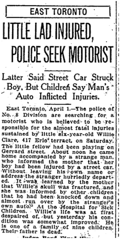 417 CR 19180401TS Willie Clare Erie Terrace child injured