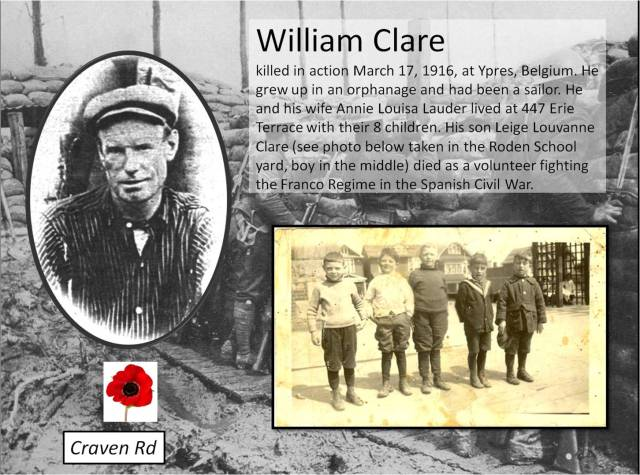 447 CR 19160317 William Clare KIA