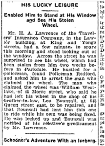 45 Morse St Toronto Star, April 27, 1901