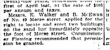 49 Morse St Toronto Star Oct. 27, 1903