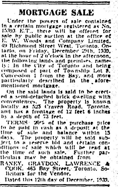 525 CR 19391219GM Mortgage Sale
