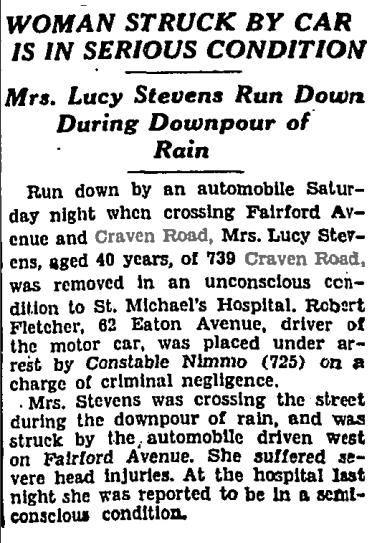 739 CR 19300811GL Woman run down