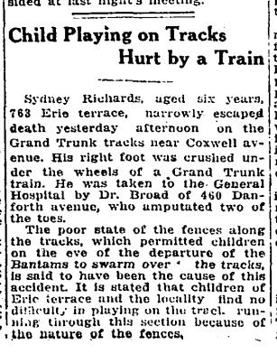 763 CR 19170427GL Child hurt on tracks