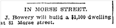 81 Morse St Toronto Star June 25, 1901