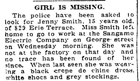 829 CR 19220707GL Jenny Smith missing