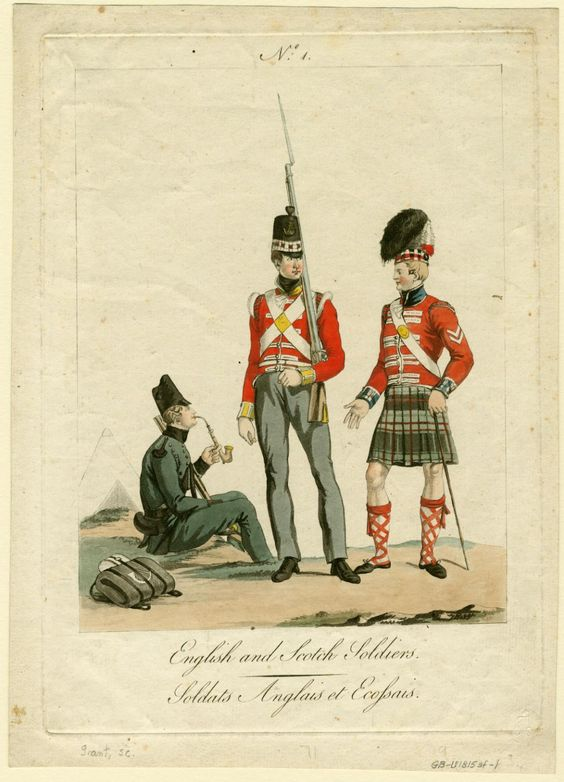 18151000 OR's of the 95th Rifles 71st HLI and 79th drawn during the occupation of Paris 1815