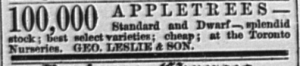 18770423GL Ad 100000 Apple Trees