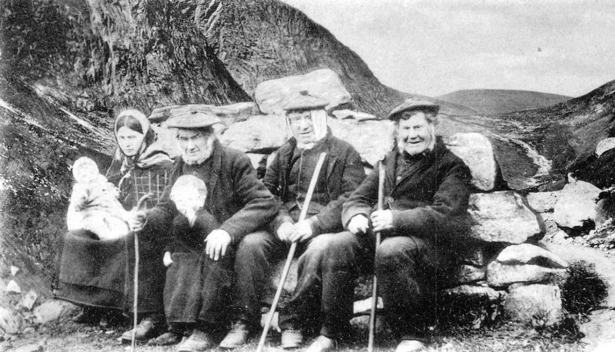 Old Photograph Crofters Highlands Scotland