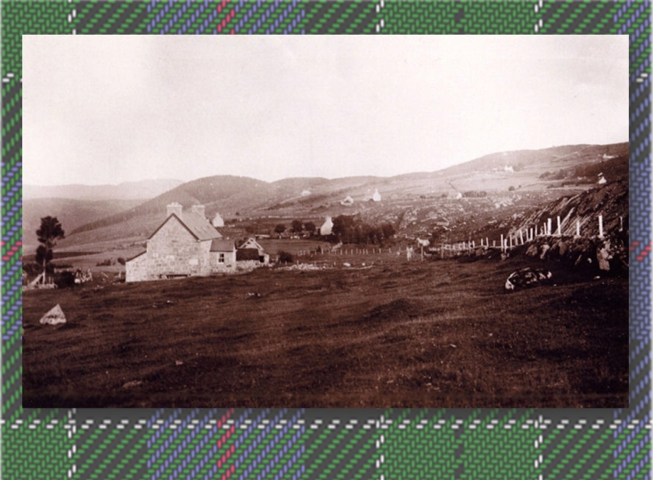 Late 19th Century Photo of Rogart, Clan Leslie Tartan