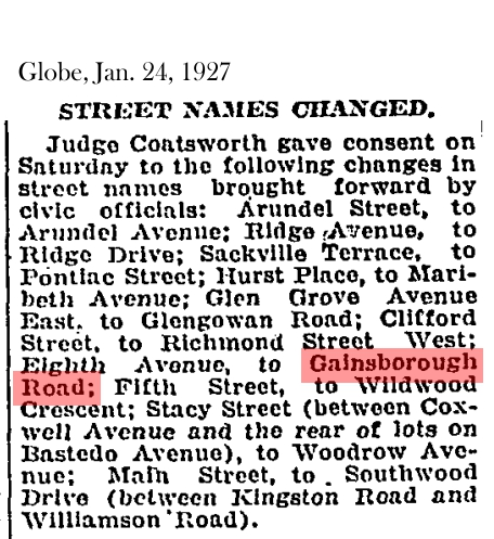 19270127-gl-street-name-changes-gainsborough-wildwood-etc