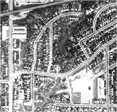 Aerial shot, 1947. Dominion of Canada photo