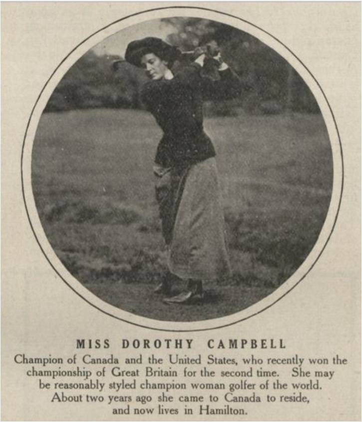 Dorothy Campbell, Canadian Courier, Vol. X, No. 1, June 3, 1911