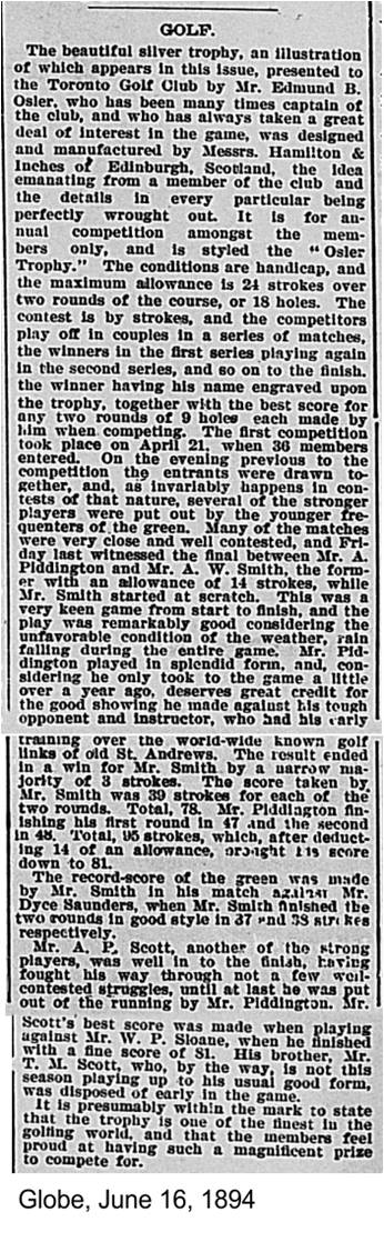 Globe, June 16, 1894 Article