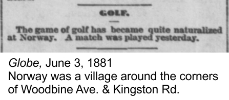 Globe, June 3, 1881 Golf at Norway