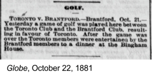 Globe, October 22, 1881 Toronto vs Brantford