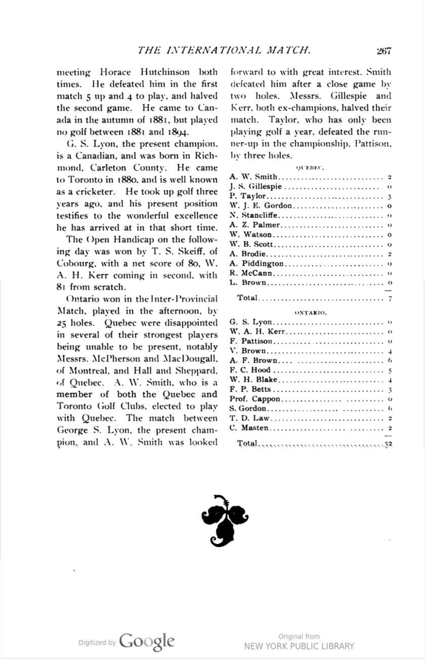 Golf, Vol. III, No. 1, July, 1898 p 267