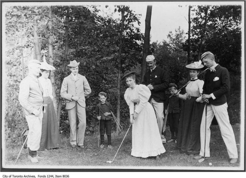 Golfers, 1896. Photo by William James. Second photo of group.