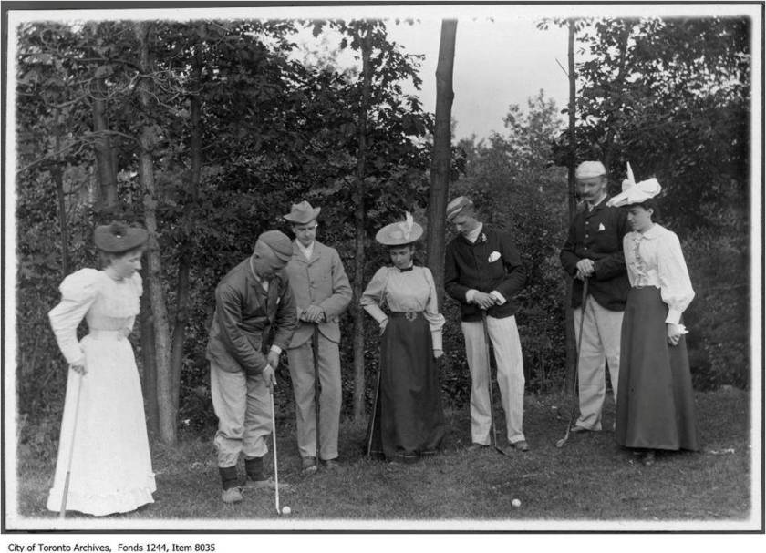 Golfers, 1896. Photo by William James.