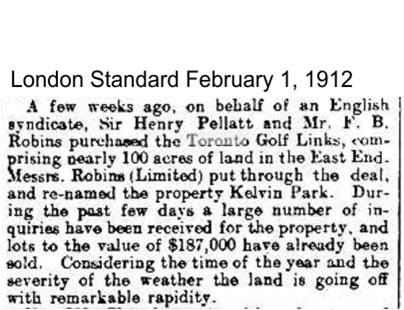 London Standard, Feb. 1, 1912