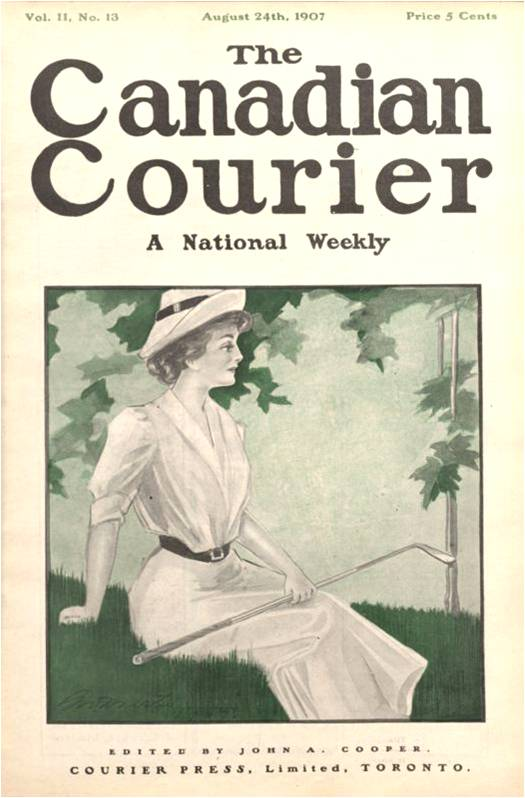 The Canadian Courier, Vol. II, No. 13 (August 24th, 1907) Lady golfer