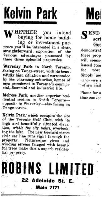 Toronto Star, June 19, 1912