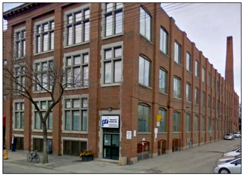 181-183 Carlaw Avenue, the Kent-McLain factory. Photo used with the kind permission of Lennard Commercial Realty, Brokerage http://www.lennard.com/