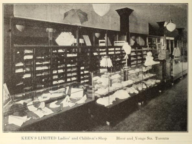 A Kent-McClain showcase manufactured for a store at Yonge and Bloor. Canadian Woodworker and Furniture Manufacturer, Vol. 22, No. 10, October, 1922.