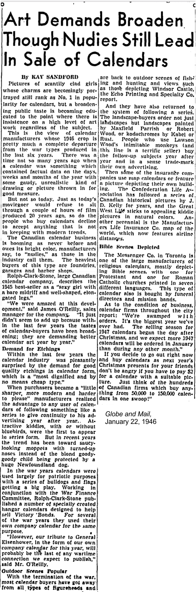globe-and-mail-january-22-1946-calendar-article