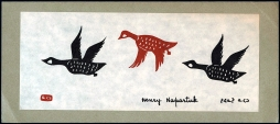 Henry Napartuk. Christmas Card depicting Flying Geese. Credit Library and Archives Canada, Acc. No. 1996-299-4