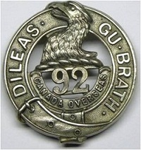 92nd-cap-badge