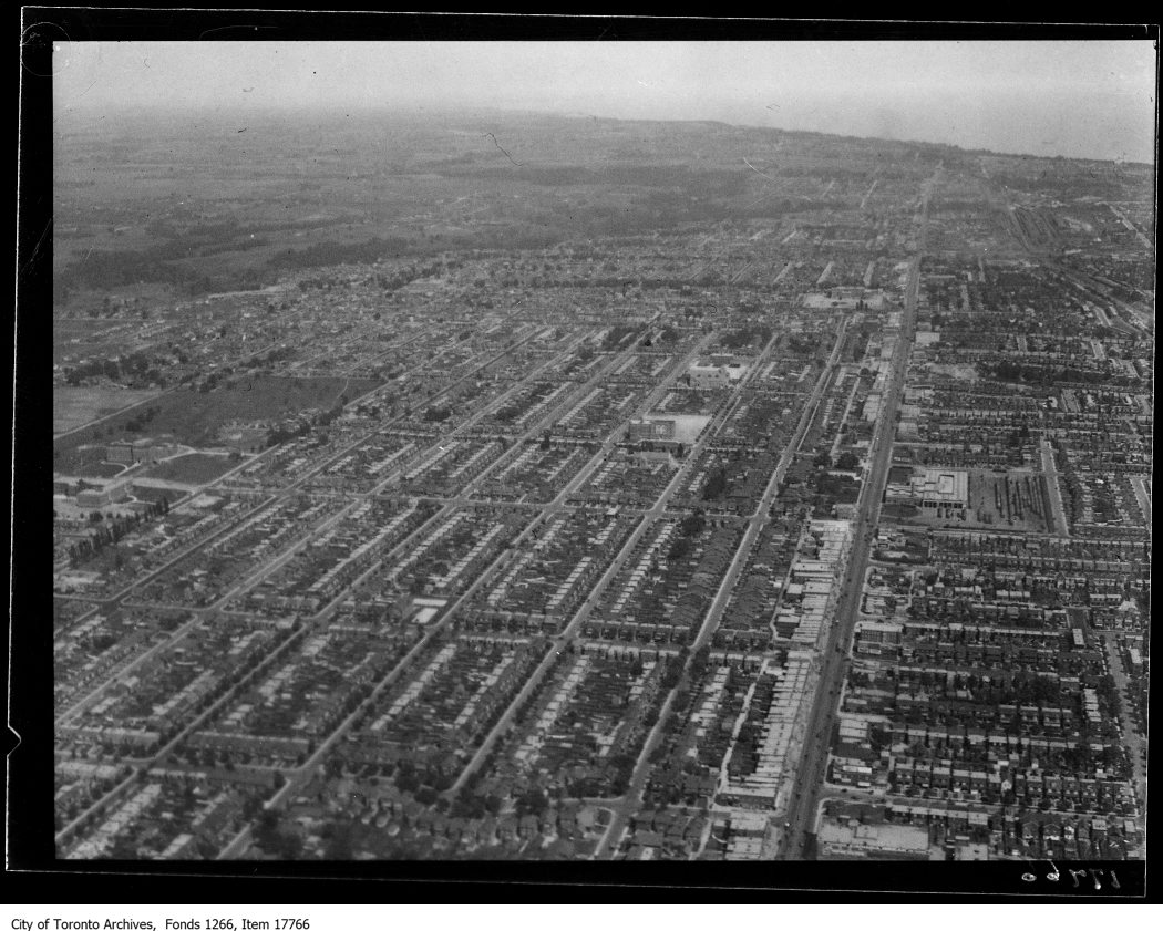 Aerial shots, East Toronto. - August 30, 1929