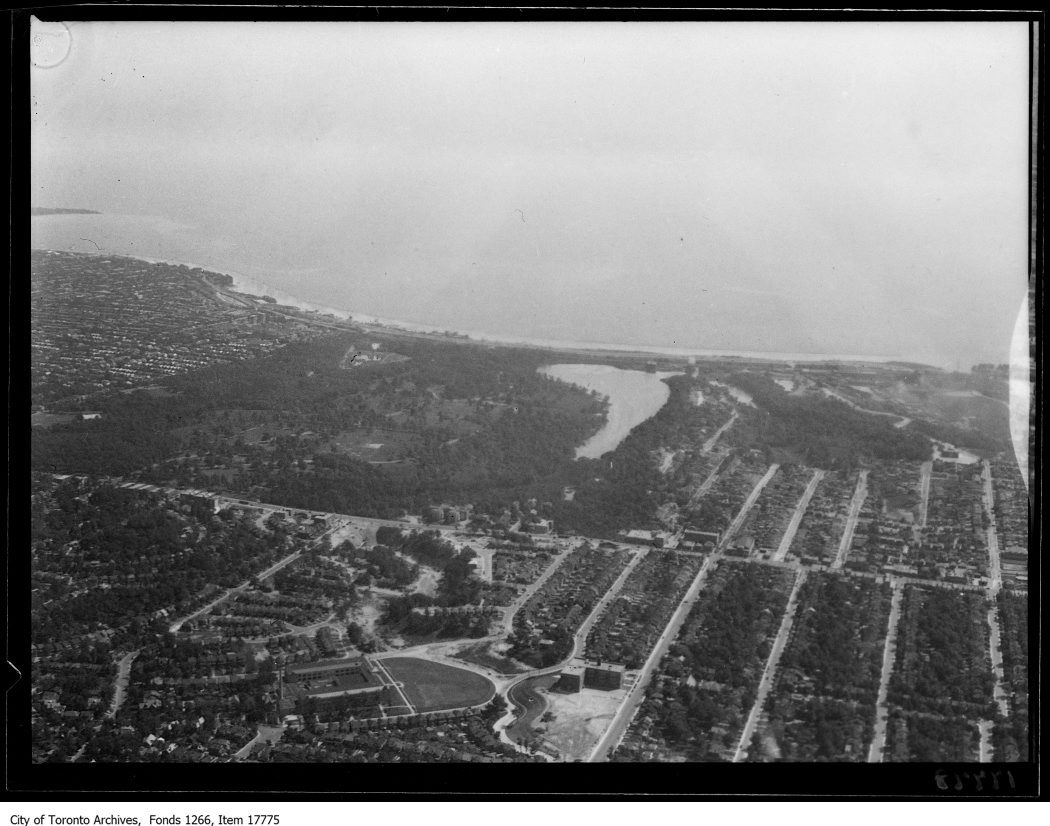 Aerial shots, Exhibition and Toronto Bay. - August 30, 1929