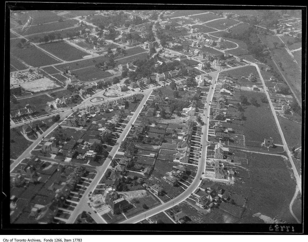 Aerial shots, Forest Hill. - August 30, 1929