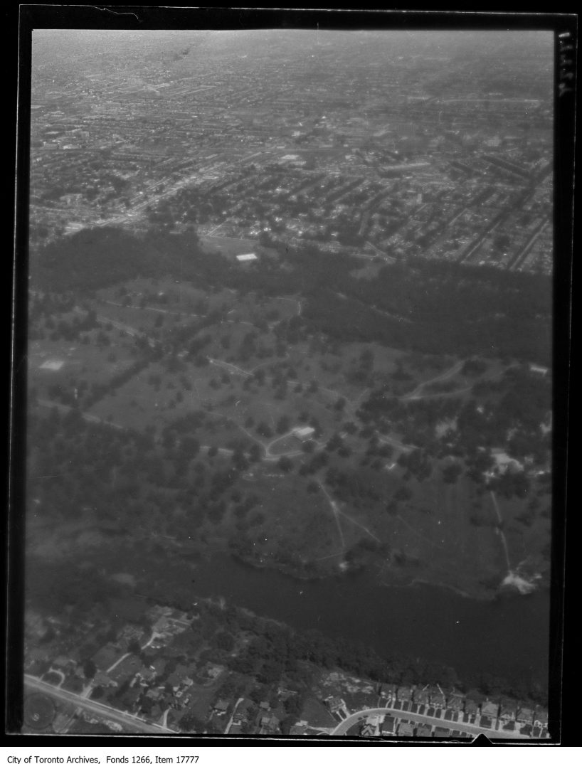 Aerial shots, High Park and Grenadier Pond, from west. - August 30, 1929