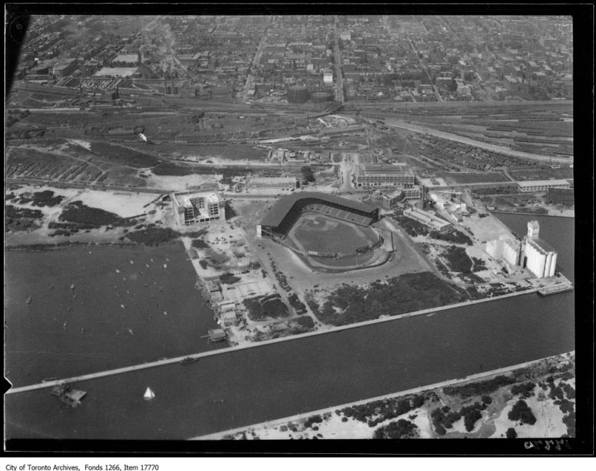 Aerial shots, Maple Leaf Stadium. - August 30, 1929